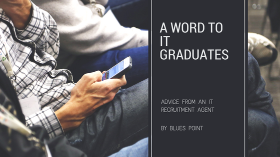 How should IT graduates behave when looking for IT jobs?