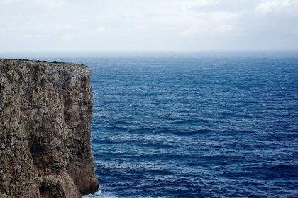 Picture of a cliff edge, representing recruitment suicide