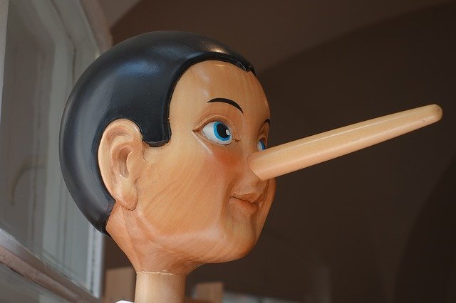 Pinocchio illustrating the CV lies that people tell