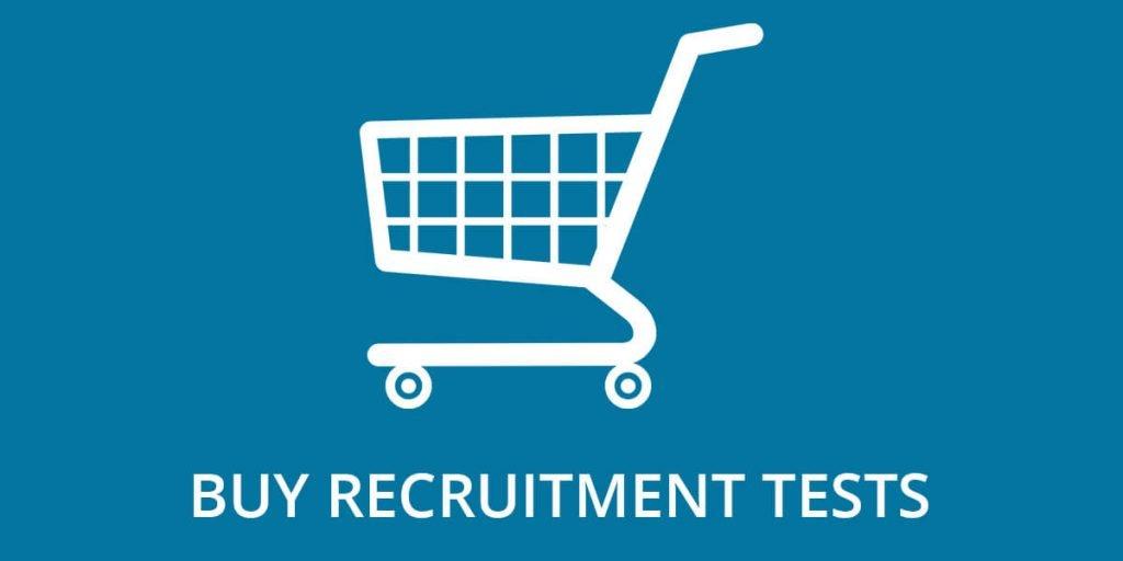 'Buy Recruitment Tests' header image.
