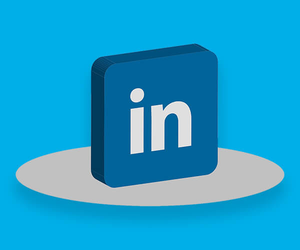 LinkedIn logo representing the social media element of our IT headhunting services