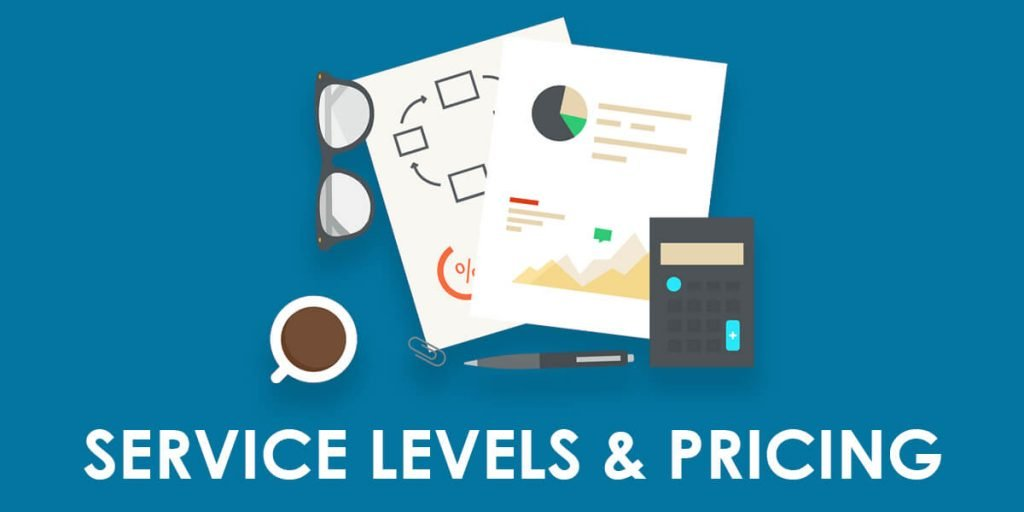 Header image with documents, calculator and other items - IT Recruitment Pricing