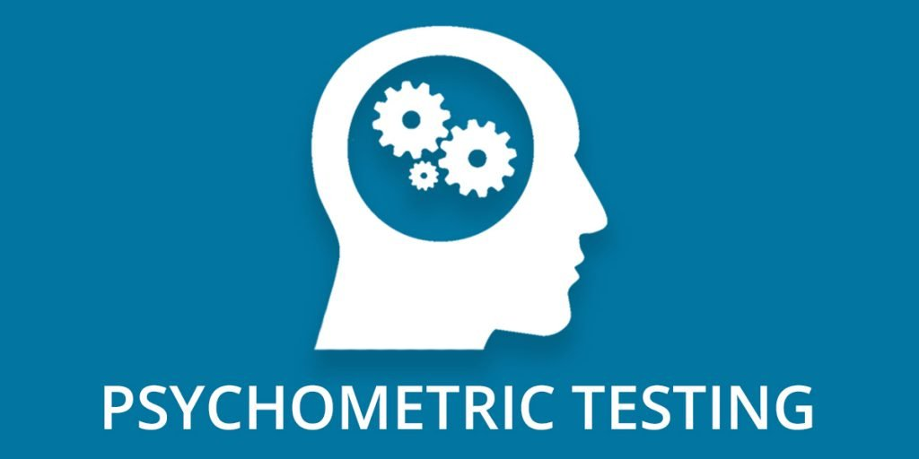 Header image featuring head with cogs inside and the words 'Psychometric Testing' below