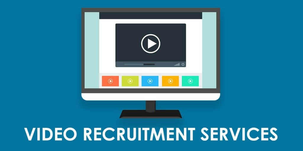 "Video Player On Screen With Words: ""Video Interviewing And Recruitment"""