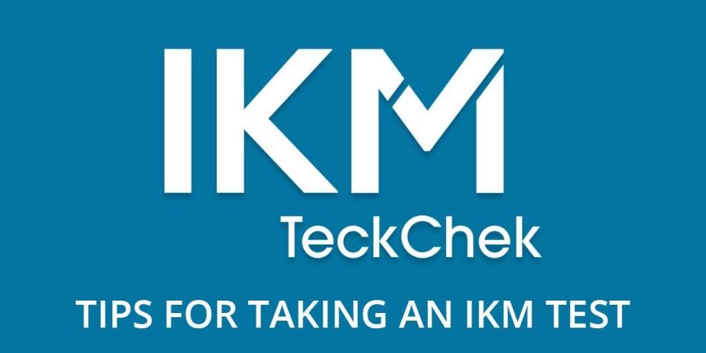 Taking an IKM Test header image